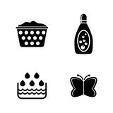 Wash. Simple Related Vector Icons Royalty Free Stock Photo