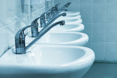 Wash sinks Royalty Free Stock Photo