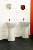 Wash stands. Two wash stands in new big bathroom Royalty Free Stock Photography