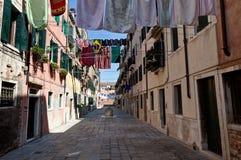Wash street, Venice, Italy stock photography