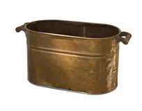 Wash Tub. Antique Copper Wash Tub with clipping path Stock Photo