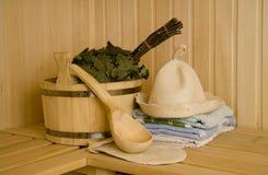 Wash-tub con la paletta Fotografia Stock