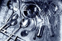 Wash up with blue tint Royalty Free Stock Photo