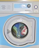 Wash in a washing machine Stock Photo