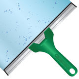 Wash the window glass. By means of a scraper with a rubber surface. Vector illustration vector illustration