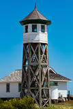 Wash Woods Lookout Tower and Boathouse, Corolla in North Carolina Stock Photo