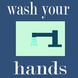 Wash your hands. Sign, be clean Royalty Free Stock Photography