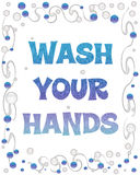 Wash your hands bubbles Stock Photos