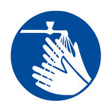 Wash your hands sign. Illustration Stock Images