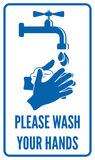 Wash your hands sign. Vector illustration of the Please wash your hands sign vector illustration