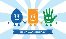 Wash Your Hands. Signs for Kids vector illustration