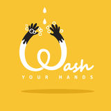Wash your hands. Vector poster Stock Photos
