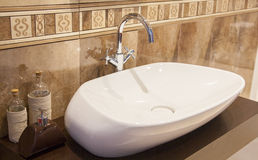 Washbasin in the bathroom Royalty Free Stock Images