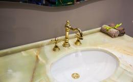 Washbasin in the bathroom Stock Photos