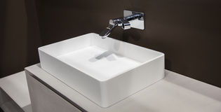 Washbasin in the bathroom Royalty Free Stock Image