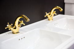 Washbasin in the bathroom Stock Images