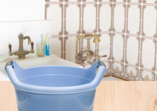 Washbasin in bathroom Stock Photo