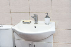 Washbasin with a cabinet Royalty Free Stock Photo