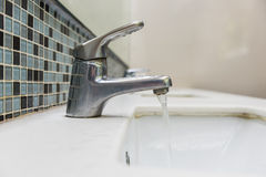 Washbasin and faucet Royalty Free Stock Image