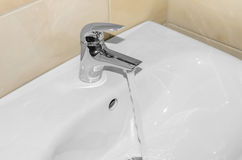Washbasin for hands. Close-up. stock photography