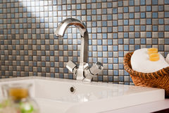 Washbasin in a modern bathroom Royalty Free Stock Images