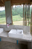 Washbasin of Modern form. Stock Photos