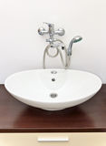 Washbasin with shower Stock Photography