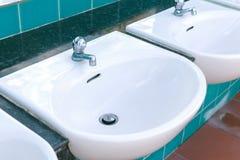 Washbasin sink public outdoor. Royalty Free Stock Image