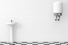 Washbasin with Water Heater Royalty Free Stock Images