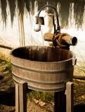 Washbasin wood. Old Washbasin wood near restroom Stock Images