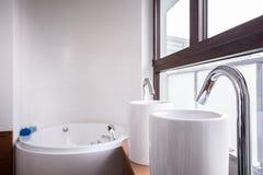 2 washbasins и ванны Стоковое Изображение RF
