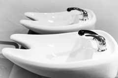 Washbasins for hairdresser Royalty Free Stock Image