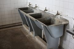 Washbasins at Robben Island Prison Stock Images