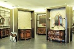 Washbasins show Stock Images