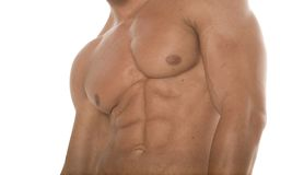 Washboard abs Stock Photography