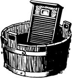 Washboard And Bucket Royalty Free Stock Photos