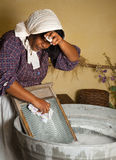 Washboard chores Stock Image