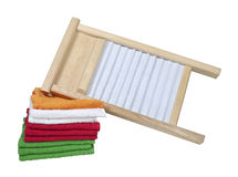 Washboard and Towels Royalty Free Stock Photo
