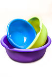 Washbow. Colorful pots on a white background Royalty Free Stock Image