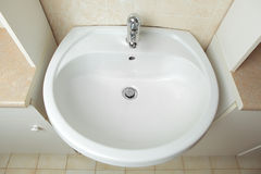 Washbowl in the bathroom Royalty Free Stock Images