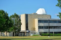 Washburn University Stoffer Science Hall on a Sunny Day Stock Images