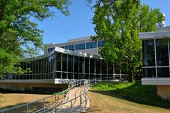 Washburn University Stoffer Science Hall on a Sunny Day Royalty Free Stock Photography