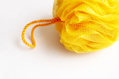 Washcloth giallo per l'igiene Fotografia Stock