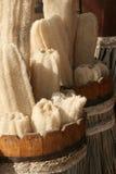 Washcloth natural Fotos de archivo