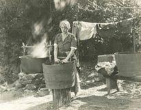 Washdag arkivfoto