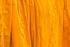 Washed And Hung Clothes Of Buddhist Monks Stock Photos