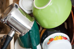 Washed dishes Royalty Free Stock Photo