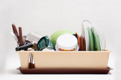 Washed dishes Royalty Free Stock Photos