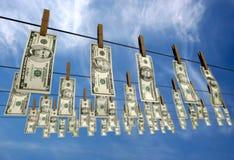 Washed dollars stock illustration