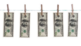 Washed dollars concept Stock Photography